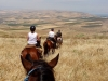 Riding towards the Jordan Valley