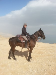 riding in Judea desert